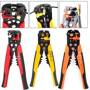 AUTOMATIC CABLE WIRE CRIMPING TOOL STRIPPER SELF ADJUSTABLE PLIER CUTTER TCT