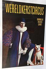Herwaarde Wereldkerstcircus Circus Cyrk Advertising Poster 1991 Clown; no frame