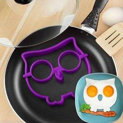 Breakfast Lovely Silicone Owl Shaped Egg Mold Novelty Kitchen Cooking Tool kit