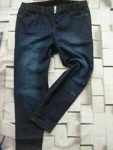 Sheego-Stretch-Jeans-Trousers-Jeggings-Size-48-Blue-049-Elastic-Band-Waistband