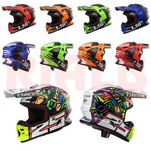Casco-Helmet-Moto-da-Cross-LS2-MX456-Lucido-black-red-orange-green-blue