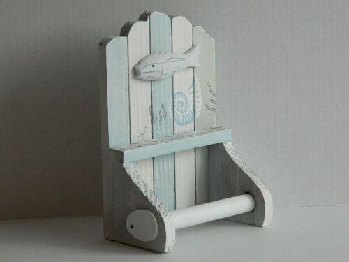 Thème Nautique Shabby Chic Bois Porte Rouleau Papier Toilette 55957