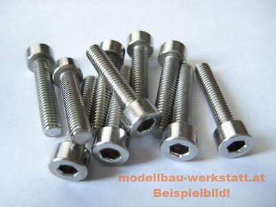 Zylinderkopfschrauben DIN 912 10 St/ück Zylinderschrauben M4x6 mm V2A Zylinder Schrauben 10, M4x6 mm A2 Edelstahl Innensechskant