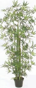 ARTIFICIAL-6-039-PALM-TREE-PLANT-ARRANGEMENT-SILK-BAMBOO-BUSH-FLOWER-TOPIARY-GREEN