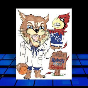 New Kentucky Wildcats Poster Art Uk Vs Ul Basketball