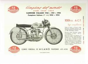 1949-53 Mondial 125cc OHC REPRO advertisement poster