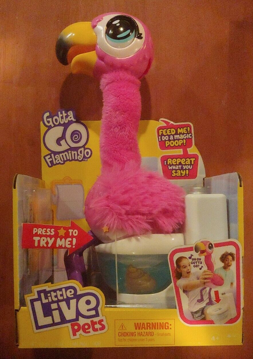 Singing Wiggling,Pooping Toy  Free Shipping Little Live Pets Gotta Go Flamingo