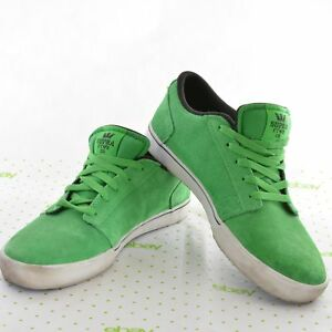 16193004cd800 Image is loading SUPRA-Men-039-s-Size-11-Green-Suede-