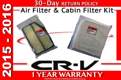 Genuine OEM Honda CR-V Air Filter /& Cabin Filter Kit  2015-2016    CRV R5A SDA