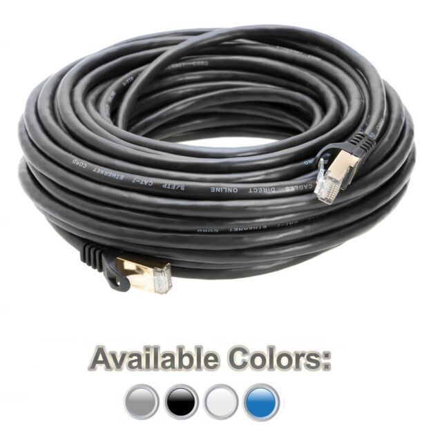 3 feet Black26AWG Monoprice Cat7 Ethernet Network Patch Cable Shielded
