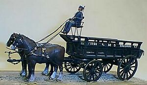 L-M-S-5ton-2-Horse-Drawn-Wagon-O-Scale-1-43-UNPAINTED-Kit-M3-Langley-Models