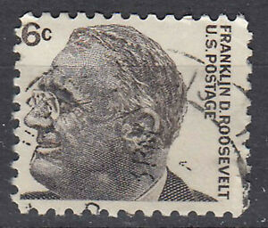 Estados unidos sello con sello 6c franklin d. roosevelt President alrededor del sello/3183