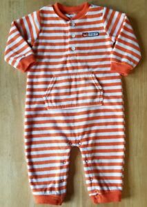 64523e210 Image is loading Baby-Boys-Clothes-Fleece-Striped-Fox-Jumpsuit-Outfit-