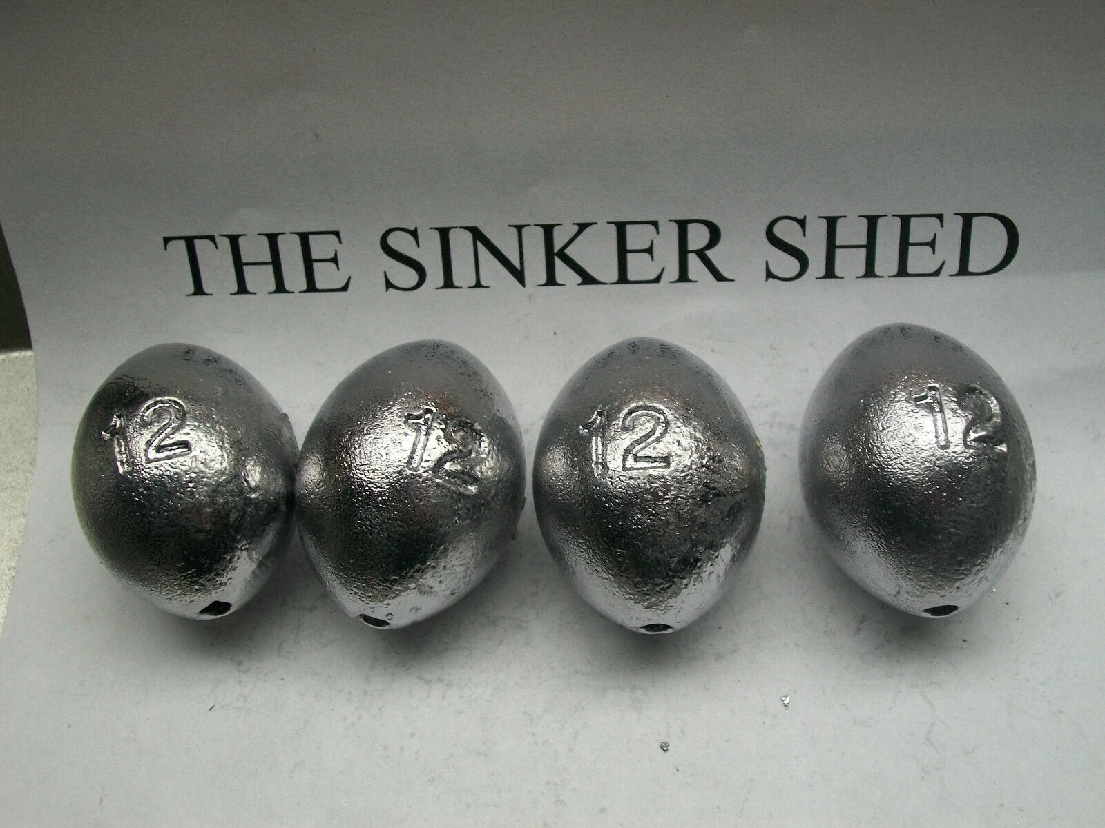 12 egg oz egg 12 sinkers / decoy weights  - quantity of 10/20/30 - FREE SHIPPING c3061a