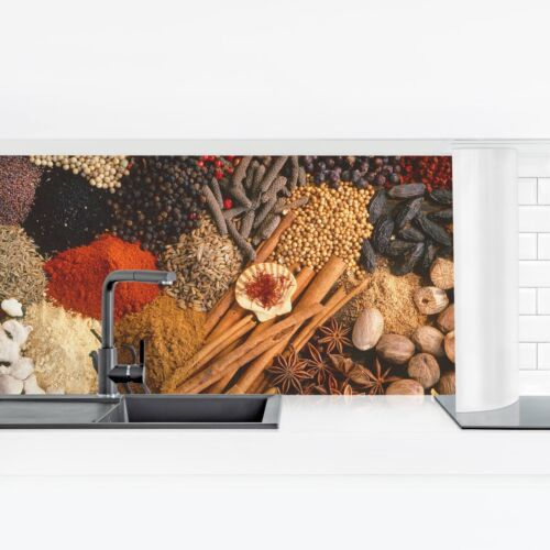 Küchenrückwand Exotische Gewürze Panorama Spritzwand Klebe-Folie Duschwand
