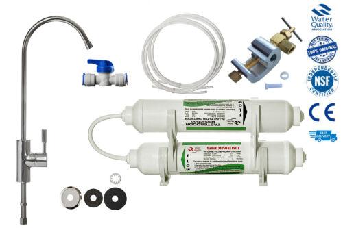accessoires 2 étape Deluxe Robinet D/'eau Potable Système de filtre avec robinet