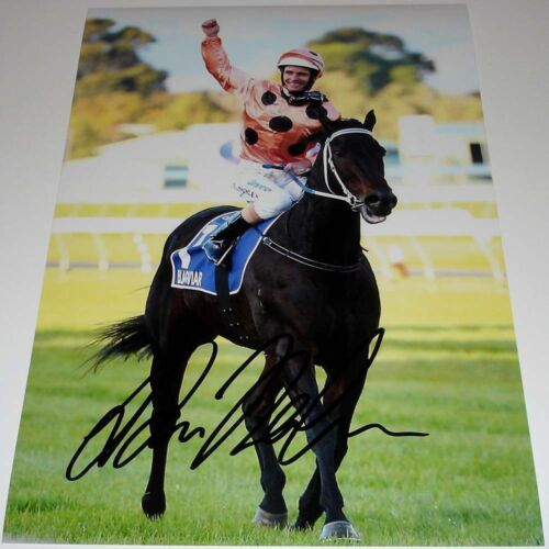 LUKE NOLEN HORSE RACING PERSONALLY HAND SIGNED 12X8 PHOTO BLACK CAVIAR