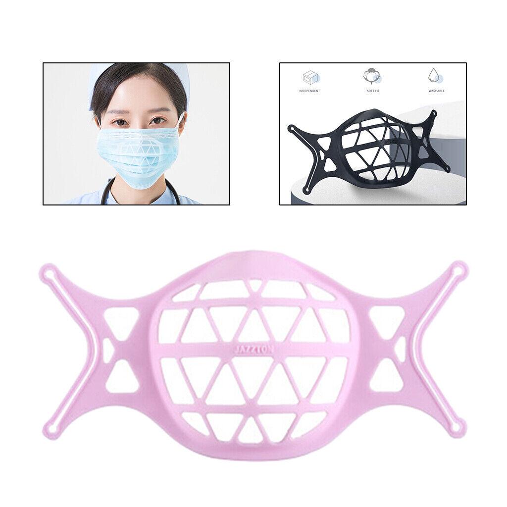 3D Mask Bracket Inner Frame Protect Lipstick for Cloth Mask Reusable Pink