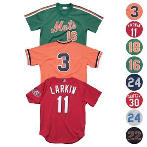 online store 55e12 37d1d Details about MLB Mitchell & Ness Authentic Batting Practice Throwback  Jersey Collection Men's