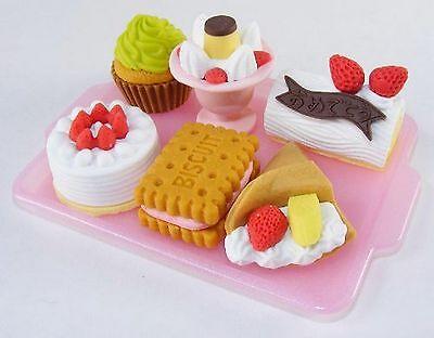 Set of 10 Iwako Japanese Eraser Set - Dessert Assortment S-3018X10