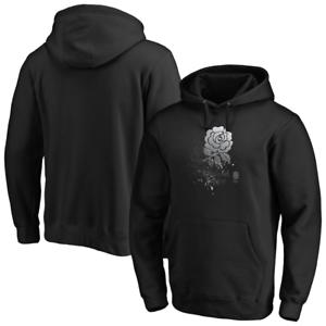 Black New England Rugby Men/'s Hoodie Logo Shattered Pullover Hoodie