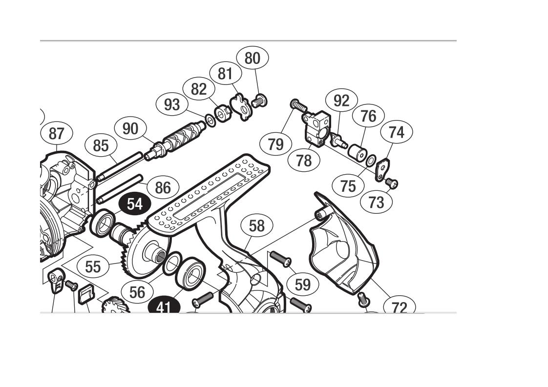 Shimano Soare BB Slider, C2000PGSS Worm Shaft, Slider, BB Line Roller 3 Ball Bearing Kit 0240e7