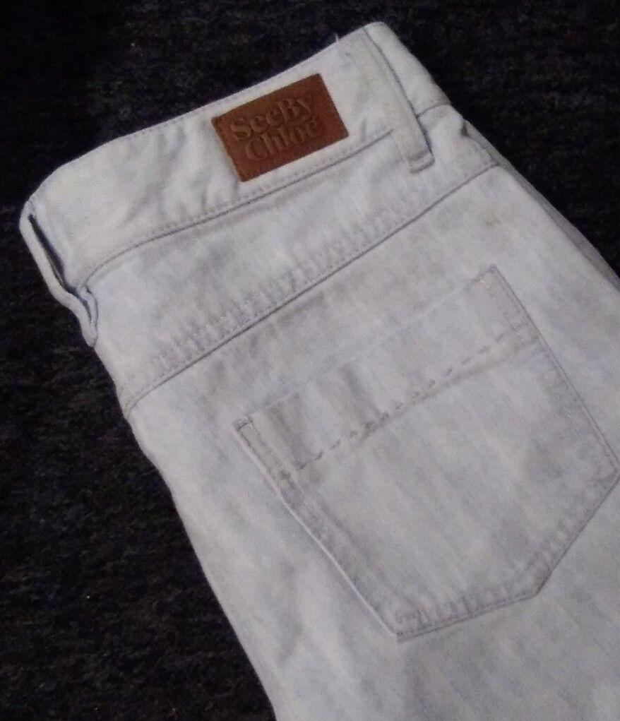 See by Chloe Slim Leg Jeans - Size 8 Broken Zip NEW - Pale Denim bluee