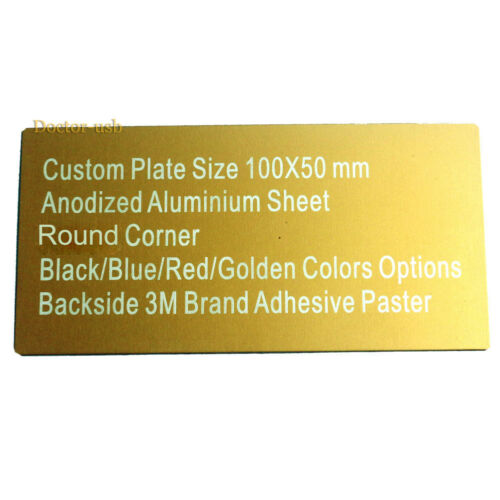 Seperated Adhesive Anodized Aluminium Metal Plate 10X5CM Nameplate Plaque Sheet