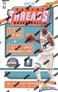 2017-18-Panini-Threads-Basketball-Factory-Sealed-Box-5x7-JUMBO-MEMORABILIA-Card
