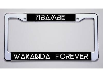 2 BLACK PANTHER License Plate Frames Chrome Faced ABS car gold accessory marvel