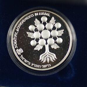1985-Israel-2-Sheqalim-Scientific-Achievements-Silver-Proof-Coin-w-Case-NO-COA