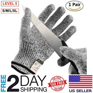 Details about Cut Resistant Gloves Level 5 Safety Kitchen Cutting Wood  Carving 1 Pair S/M/L/XL