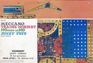 ORIGINAL-CATALOGUE-1960-1961-MECCANO-TRAINS-HORNBY-DINKY-TOYS-30-PAGES-TARIFS