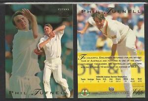 PHIL TUFNELL 1995 FUTERA CRICKET ASHES ELITE CARD No 32
