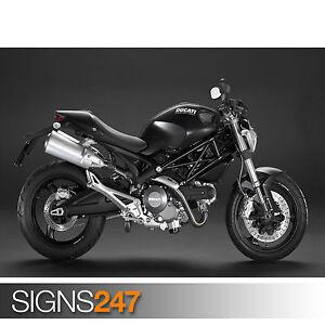 ducati monster 696 1584 motorbike poster photo poster print art all sizes ebay. Black Bedroom Furniture Sets. Home Design Ideas