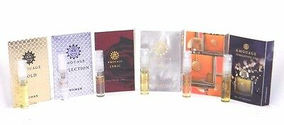 Amouage Woman EDP Vial Sample Spray Set Sampler for Women 6 x 2ml With Cards