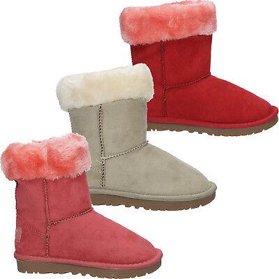Mädchen Boots Casu 819-1 Stiefel Kinderschuhe Pelz Winter Gr. 24-34 NEU