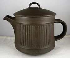 Dansk Quistgaard Tea Pot W/Lid Flamestone Brown Fluted Denmark