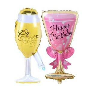 38-034-Hochzeit-Helium-Sektglas-Folienballon-Flasche-Champagner-Verlobung-Einweihung