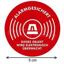 Aufkleber 5cm als Warnaufkleber bei Alarmanlagen oder Videoüberwachung