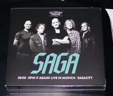 SAGA 20/20 / SPIN IT AGAIN! LIVE IN MÜNCHEN / SAGACITY COLLECTOR´S PACKAGE 3 CD