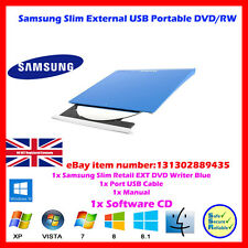 Slim Blue Portable Ultra Ext. DVD+/-RW Samsung optical drive USB 2.0 MAC/PC