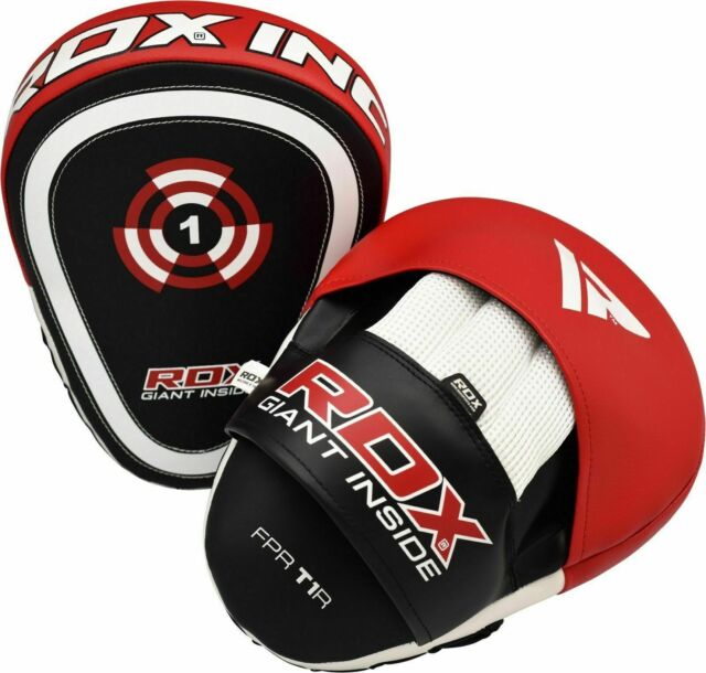 Pair Boxing Pads Muay Thai Punch Mitts MMA Focus Training Hook /& Jab Kickboxing