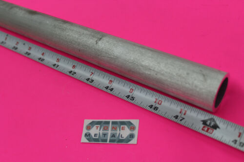 """1 inch Pipe 1.315/"""" OD x .133/"""" Wall 6061 T6 ALUMINUM Round Tube 48/"""" long"""