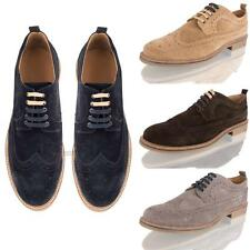 1a560cf6d item 1 MENS REAL SUEDE LEATHER BROGUE LACE UP CASUAL SMART OXFORD FORMAL  SHOES SIZE -MENS REAL SUEDE LEATHER BROGUE LACE UP CASUAL SMART OXFORD  FORMAL SHOES ...