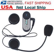 800m Helmet Intercom Bluetooth Interphone Headset for Street Bike Motorcycle USA