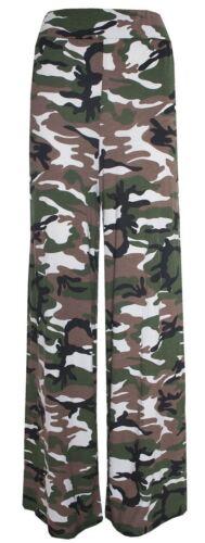 Nouveau débardeur camouflage stretch taille palazzo pantalon 16-26