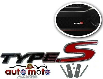 Honda Civic Type S Front Grill Badge Red Black