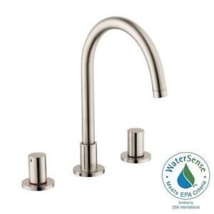 Hansgrohe Axor Uno 38053821 Brushed Nickel Widespread Bathroom
