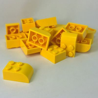 LEGO Parts~ 2 Brick Modified 2 x 3 w Curved Top 6215 YELLOW